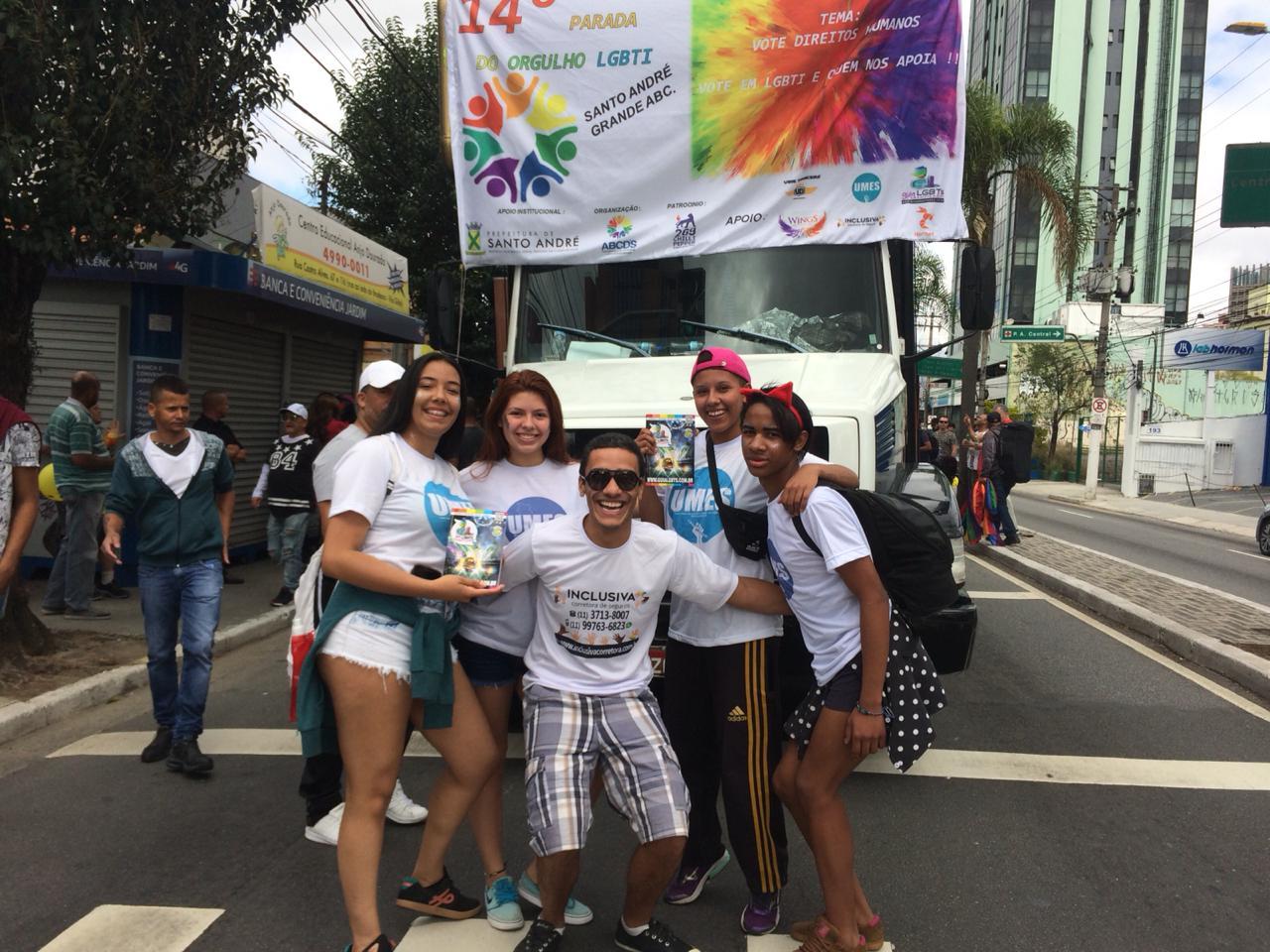 Dia 16 de setembro de 2018 tivemos a 14°Parada do Orgulho LGBT de SANTO ANDRÉ