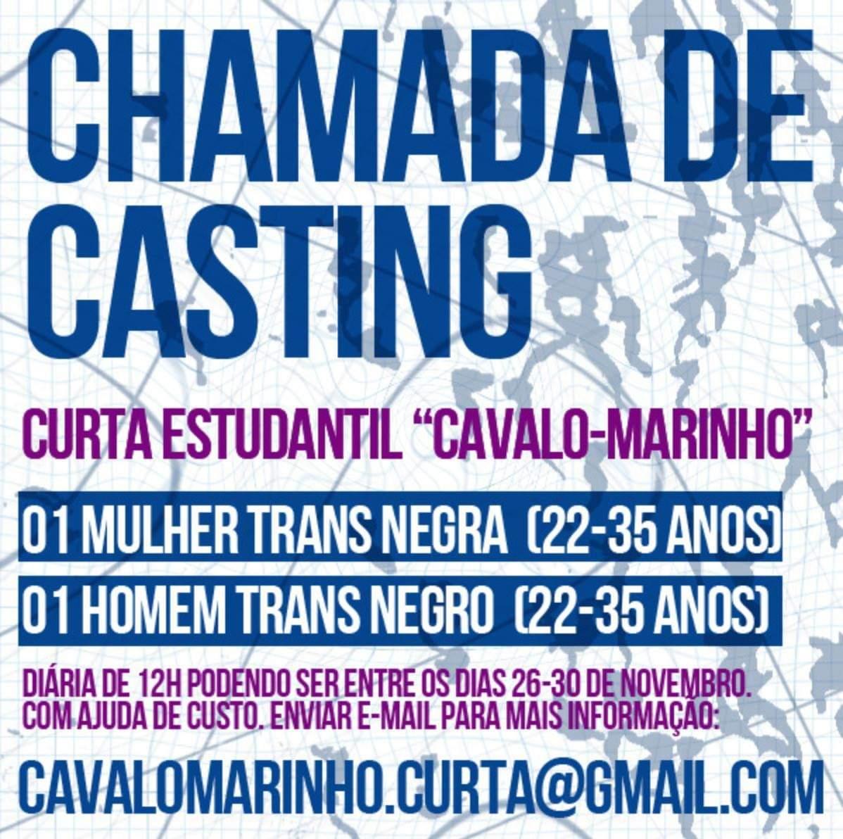 TRANSEMPREGOS DIVULGA: Procura-se 1 homem e 1 mulher TRANS NEGR@S (de 22 a 35 anos) e que queiram participar de um curta metragem em SÃO PAULO - e com ajuda de custo