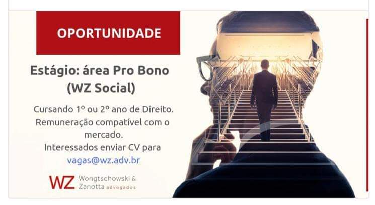 WZ ADVOGADOS em parceria com TRANSEMPREGOS busca profissional TRANS que queira estagiar em SÃO PAULO