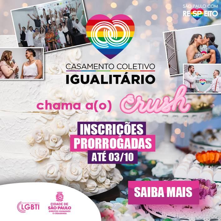 Inscrições abertas para o Casamento Coletivo Igualitário 2019