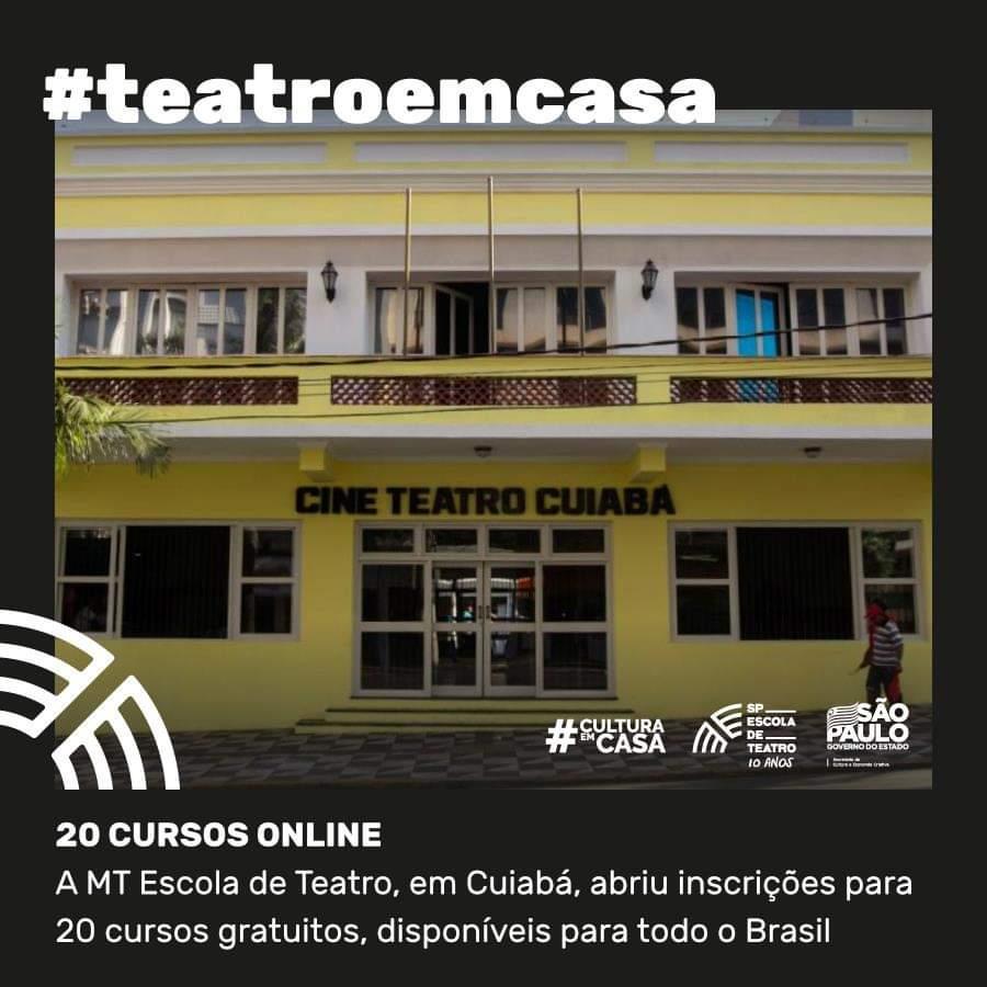 TRANSEMPREGOS DIVULGA:  Os 20 cursos a distância oferecidos pela MT Escola de Teatro