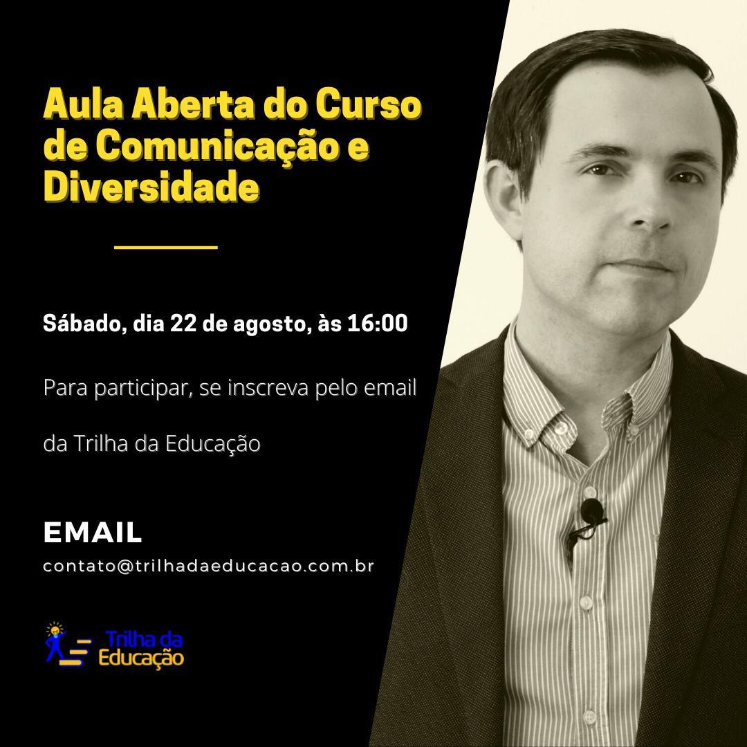 Vicente Darde é jornalista e doutor em Comunicação e propõe discutir uma das temáticas mais sensíveis e importantes da atualidade.