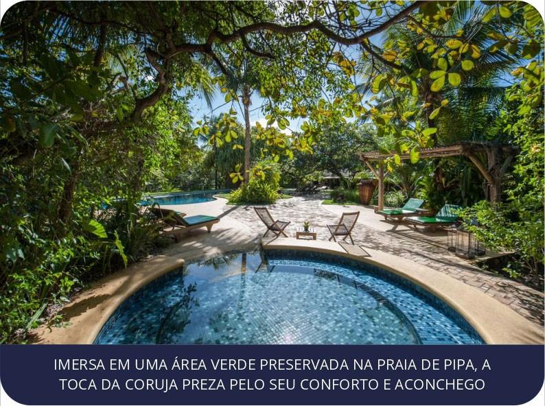 Imersa em uma área verde preservada na praia de PIPA, a Toca da Coruja Preza pelo Seu Conforto e aconchego