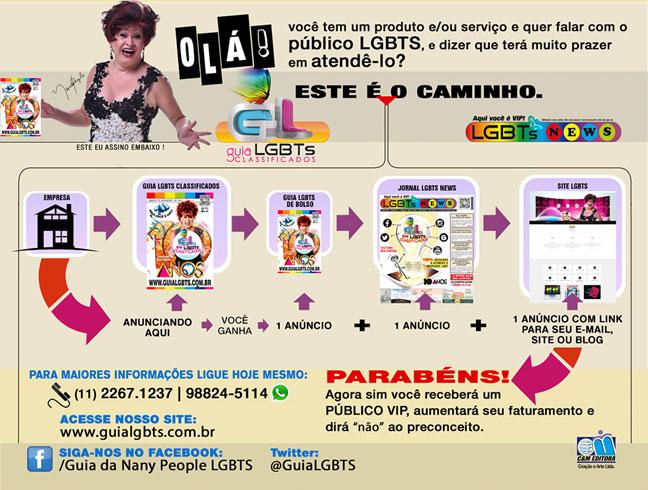 Folder Produtos e Serviços do Guia LGBTS